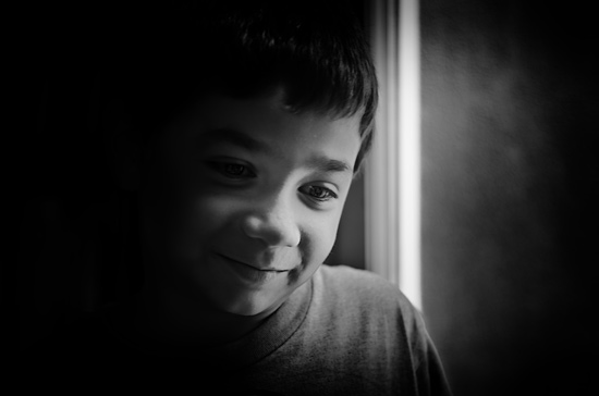 Children's black and white photography