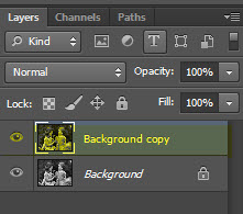 Create A Layer of the Background Copy